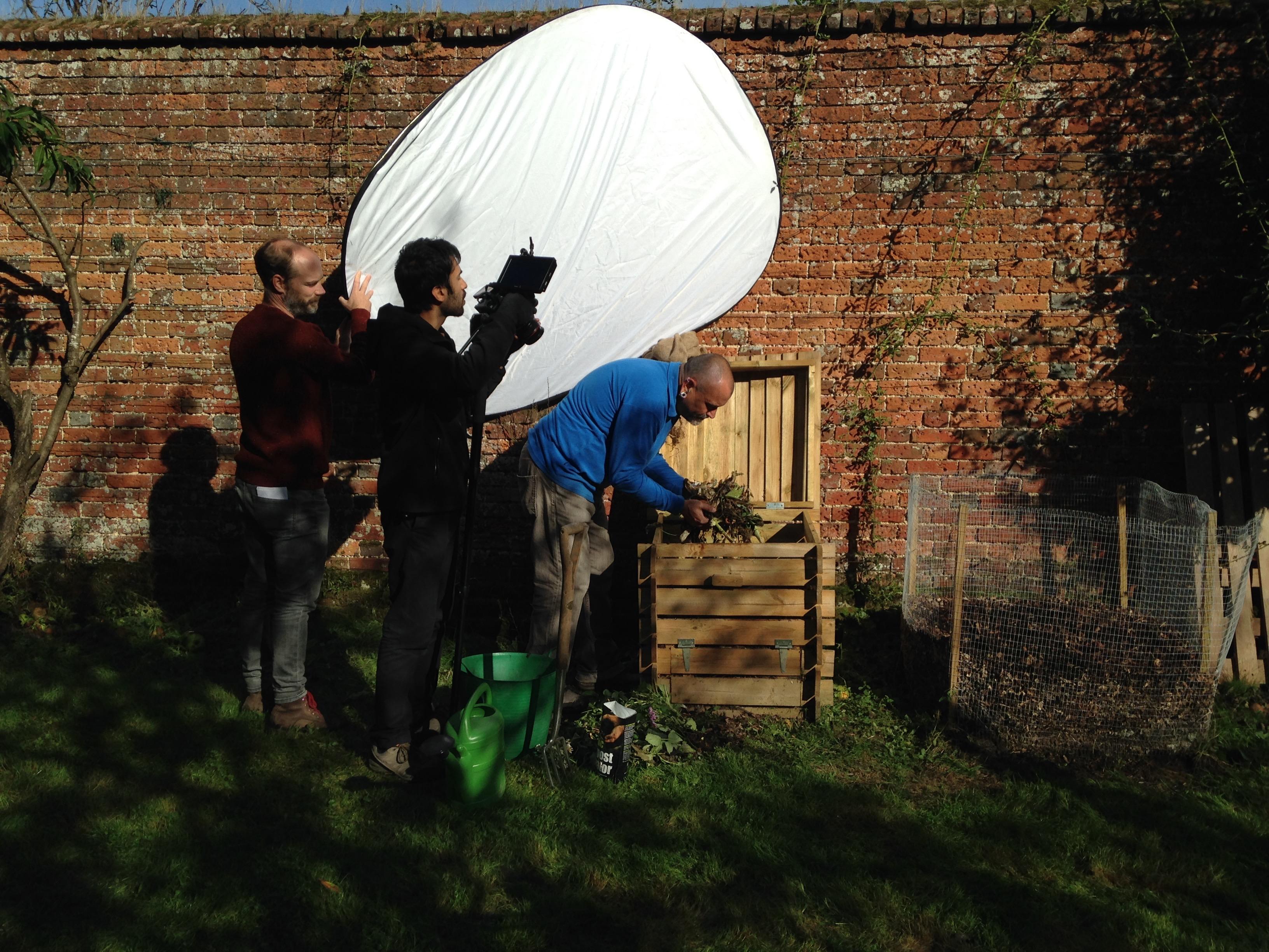 David Hurrion Filming at Farley Hill