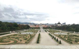 Parterre garden baroque palace