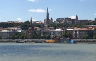 Budapest city view river